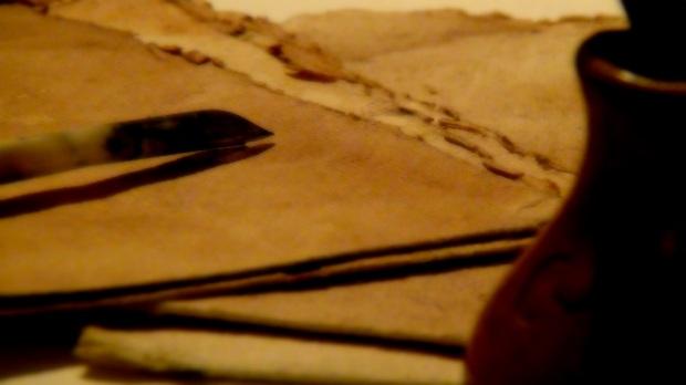 Ancient handwriting   © 2014 Simon Peter Sutherland