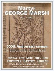 Marsh 500th anniversary sermon flyer