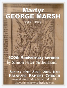 Marsh 500th anniversary sermon flyer