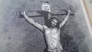 Jesus Christ crucified from a 19th century engraving © 2013/15 Simon Peter Sutherland